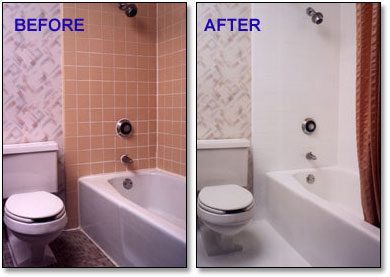 after resurfacing refinishing before repair tub bathtub glazes and total koatings